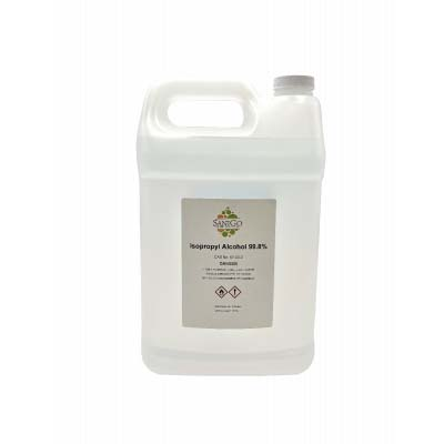 SaniGo - Isopropyl Alcohol, 99% Pure IPA - 1 Gallon, Case of 4  -Screw Cap
